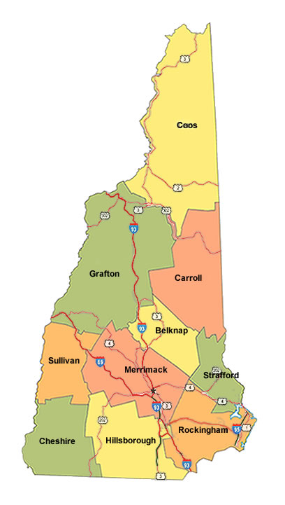 New Hampshire Counties